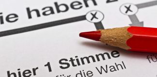 Wahlzettel Deutschland